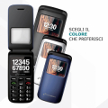 TECHMADE SENIOR FLIP PHONE T40  BLACK
